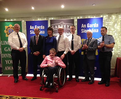 Sean Byrnes wins Garda Siochana Award